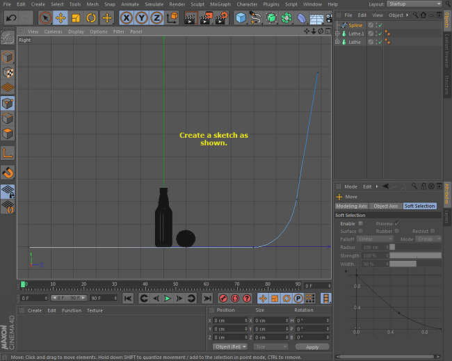 Cinema 4d online tutorials creating glass bottle Online rendering tool